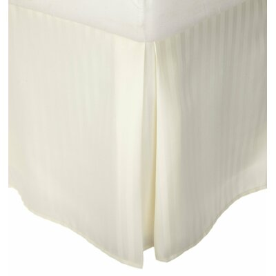 Patric Bed Skirt Size: King, Color: Ivory