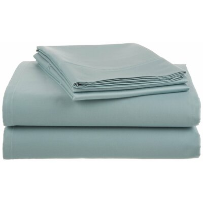 Lansdowne  500 Thread Count Sheet Set Size: Queen, Color: Aqua Blue