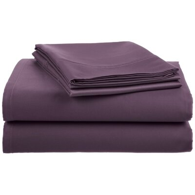 Lansdowne  500 Thread Count Sheet Set Size: Queen, Color: Eggplant