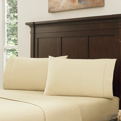 Lansdowne Pillowcase Set Color: Butter Cream, Size: King
