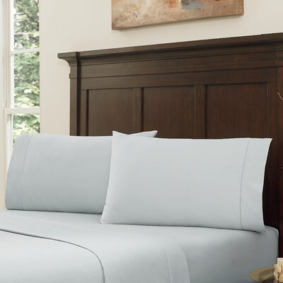 Lansdowne Pillowcase Set Size: King, Color: Pearl Blue