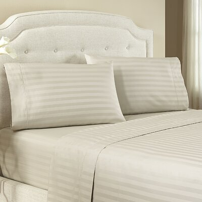 Lansdowne 500 Thread Count Cotton Sheet Set Size: Full, Color: Pebble