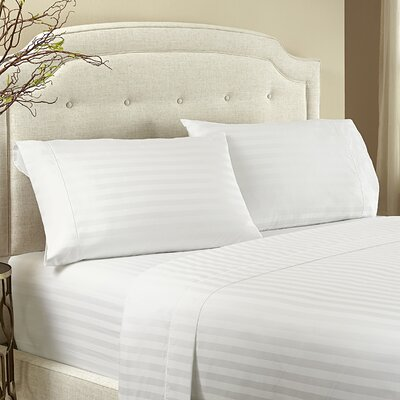 Lansdowne 500 Thread Count Cotton Sheet Set Size: Queen, Color: Snow White