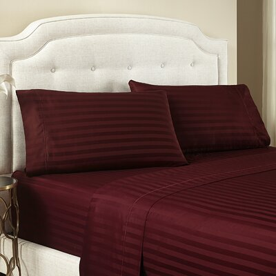 Lansdowne 500 Thread Count Cotton Sheet Set Size: Twin, Color: Wine