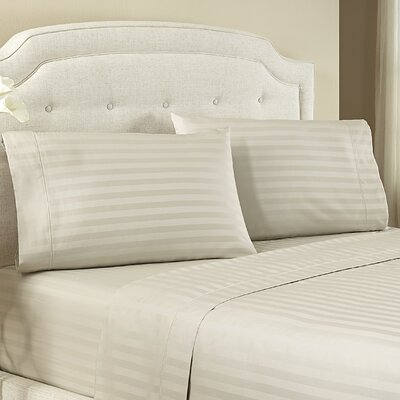 Lansdowne Pillowcase Size: King, Color: Pebble