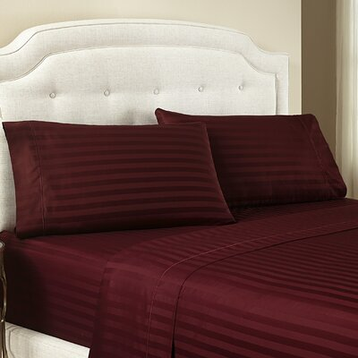 Lansdowne Pillowcase Size: Standard, Color: Wine