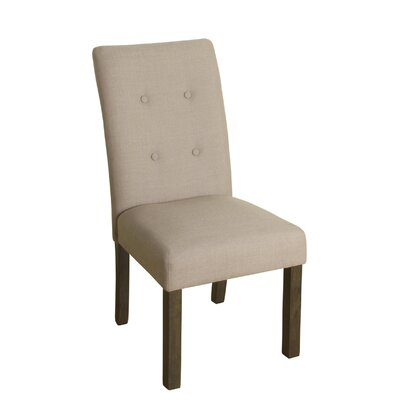 Ramey Side Chair Upholstery: Putty, Finish: Gray Washed