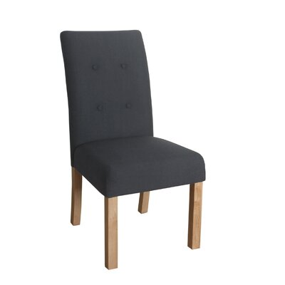 Ramey Side Chair Upholstery: Blue Graphite, Finish: Beigewood