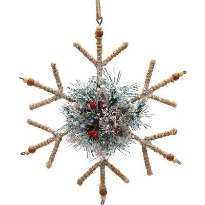 Glitter Snowflake Wreath Ornament