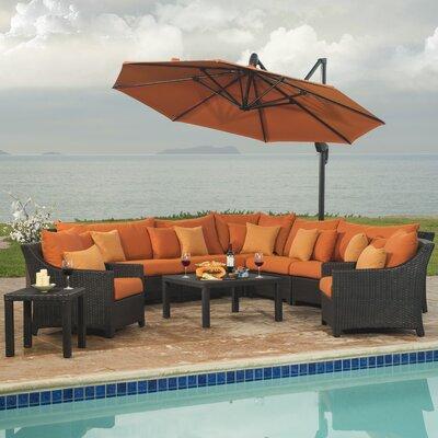 Northridge 9 Piece Deep Seating Group with Cushions Fabric: Tikka Orange