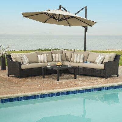 Northridge 6 Piece Deep Seating Group with Cushions Fabric: Slate Grey