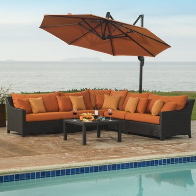 Northridge 6 Piece Deep Seating Group with Cushions Fabric: Tikka Orange