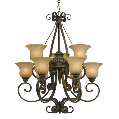 Gregory 9-Light Shaded Chandelier