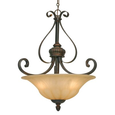 Gregory 3-Light Bowl Inverted Pendant