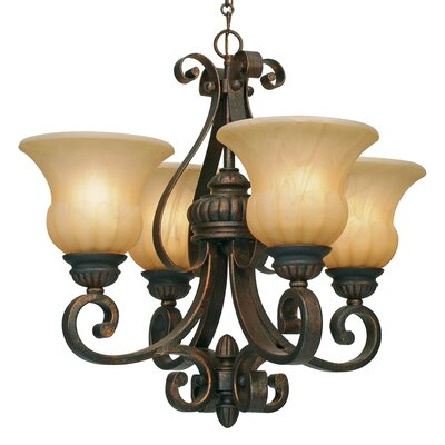 Gregory 4 Light Shaded Chandelier