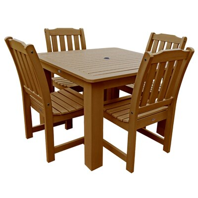 Amelia  5 Piece Dining Set Finish: Toffee