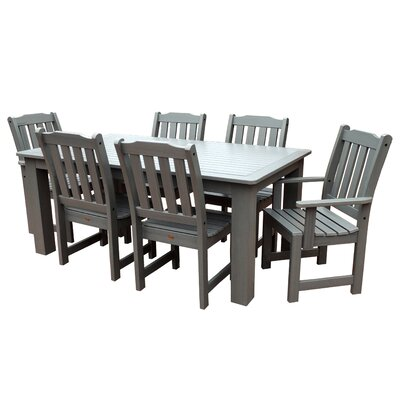 Amelia 7 Piece Dining Set Finish: Coastal Teak