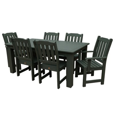 Amelia 7 Piece Dining Set Finish: Charleston Green
