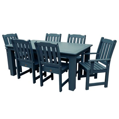 Amelia 7 Piece Dining Set Finish: Nantucket Blue