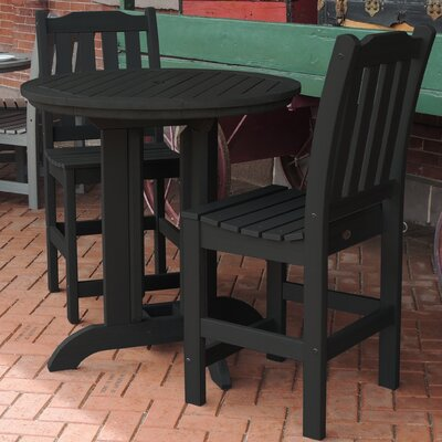 Amelia 3 Piece Counter Height Dining Set Finish: Black