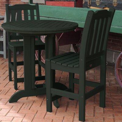 Amelia 3 Piece Counter Height Dining Set Finish: Charleston Green