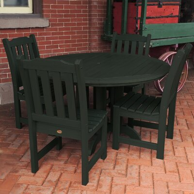 Amelia 5 Piece Dining Set Finish: Charleston Green
