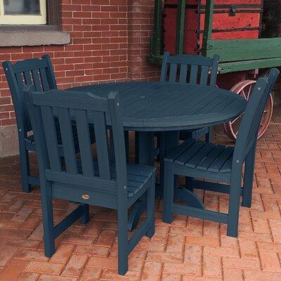 Amelia 5 Piece Dining Set Finish: Nantucket Blue