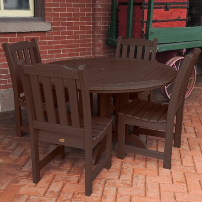 Amelia 5 Piece Dining Set Finish: Weathered Acorn