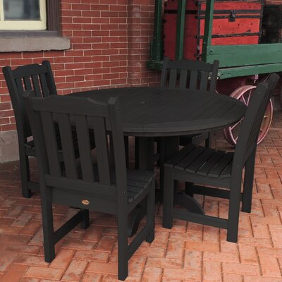 Amelia 5 Piece Dining Set Finish: Black