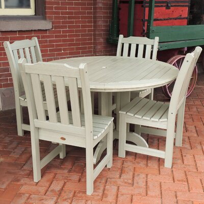 Amelia 5 Piece Dining Set Finish: Whitewash