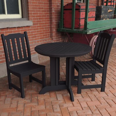 Amelia 3 Piece Dining Set Finish: Black