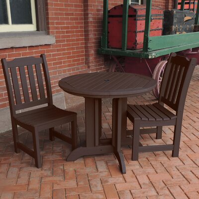 Amelia 3 Piece Dining Set Finish: Weathered Acorn