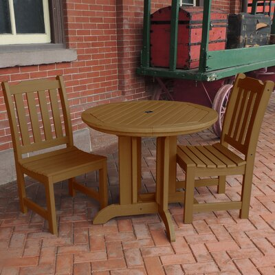 Amelia 3 Piece Dining Set Finish: Toffee