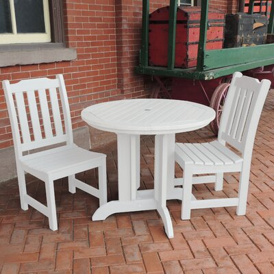 Amelia 3 Piece Dining Set Finish: White