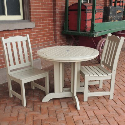 Amelia 3 Piece Dining Set Finish: Whitewash