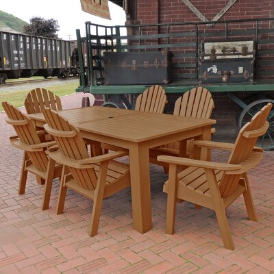 Amelia 7 Piece Dining Set Finish: Toffee