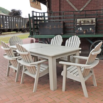 Amelia 7 Piece Dining Set Finish: Whitewash