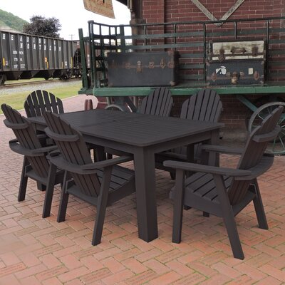 Amelia 7 Piece Dining Set Finish: Black