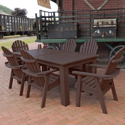 Amelia 7 Piece Dining Set Finish: Weathered Acorn