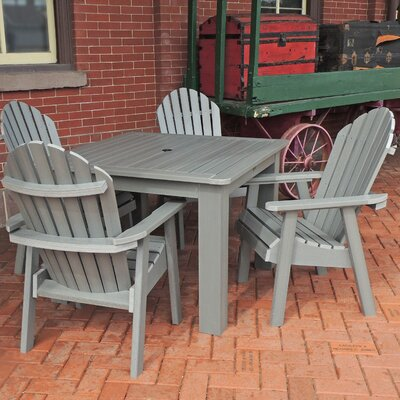 Amelia 5 Piece Dining Set Finish: Coastal Teak