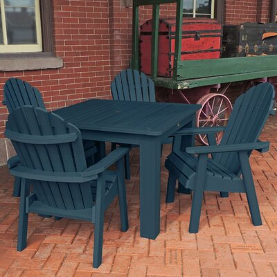 Amelia 5 Piece Dining Set Finish: Nantucket Blue