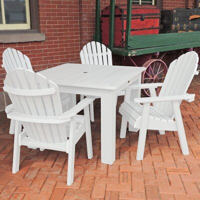 Amelia 5 Piece Dining Set Finish: White