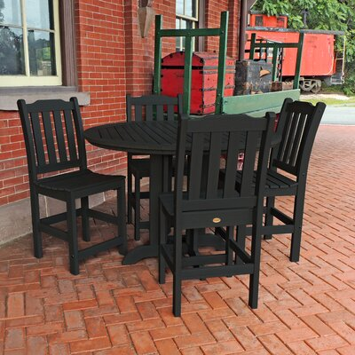 Amelia 5 Piece Counter Height Dining Set Finish: Black