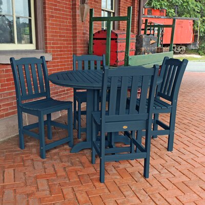 Amelia 5 Piece Counter Height Dining Set Finish: Nantucket Blue