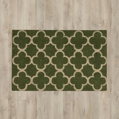 Olde Berry Framework Doormat Color: Green