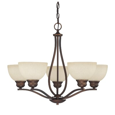 Brickyard 5-Light Shaded Chandelier