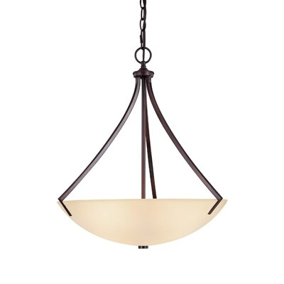 Brickyard 3-Light Inverted Pendant Finish: Burnished Bronze