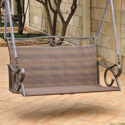 Meetinghouse Porch Swing Finish: Honey, Size: Double