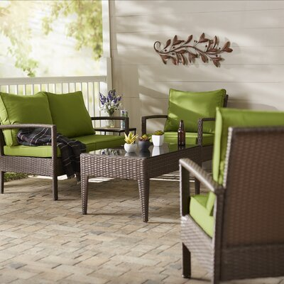 Riegelsville 4 Piece Dining Set with Cushions