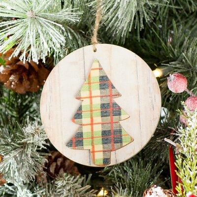 Three Posts Warm Wishes Plaid Tree Ornament